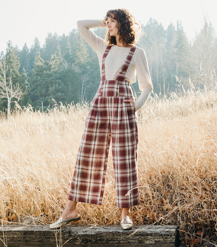 Fall Adventures Jumpsuit-Brick