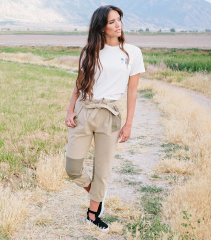 Paper Bag Patch Pant - Khaki