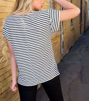 So-So Stripe Top