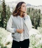 Color Blocked Bomber Jacket