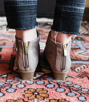 Muni Bootie- Taupe Suede