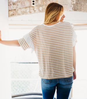 Sandy Stripe Tee