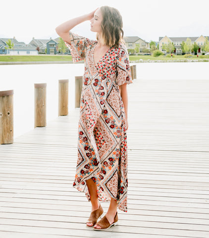 Festival Day Dress - Taupe