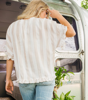 Sand Stripe Top