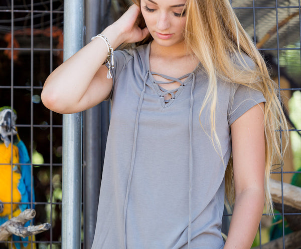 All Laced Up Tee - Olive