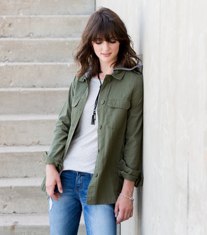 Casual Summer Nights Jacket - Olive