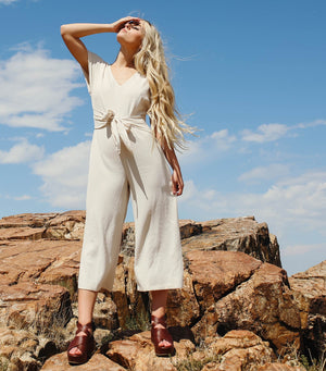Totally Textured Jumpsuit