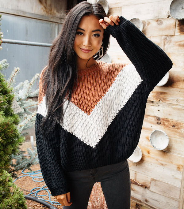 Rusted Colorblock Sweater