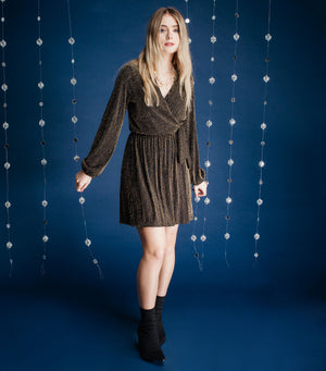 Long Sleeve Tie Dress