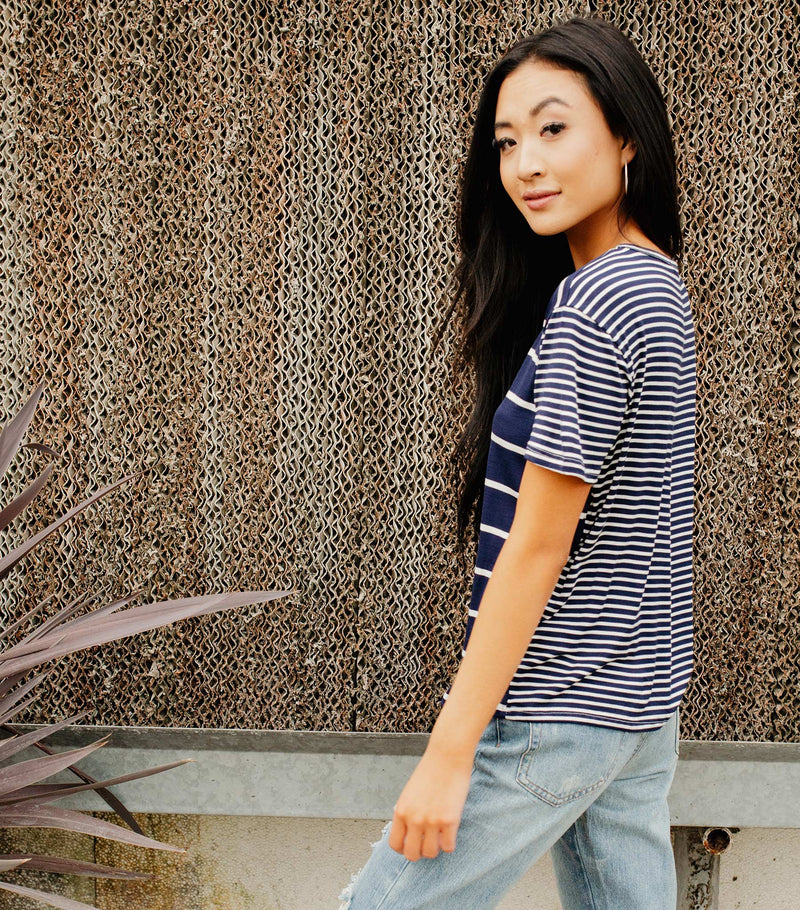 Switch It Up Stripe Tee