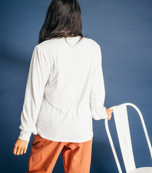 Fly Away Top- Off White