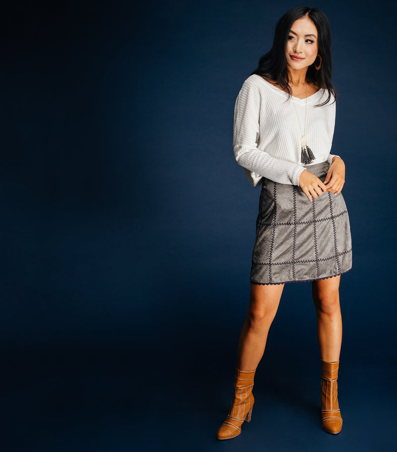 Maggie Suede Skirt