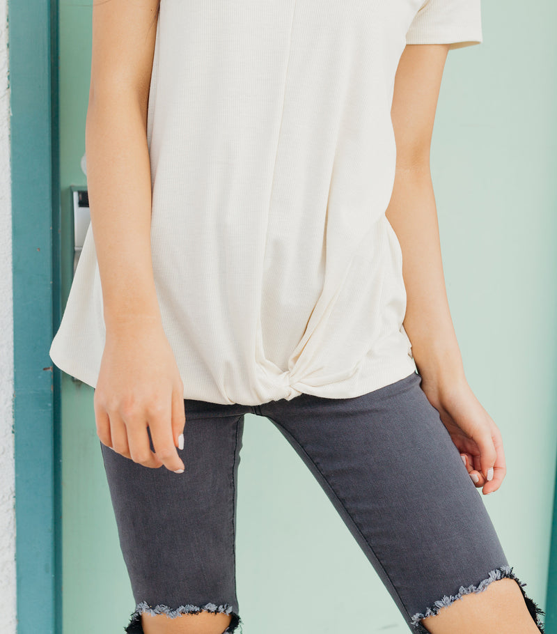 Simple Ribbed Tee