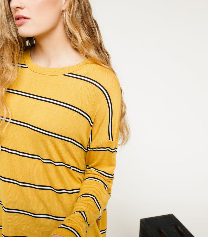 Hacci Stripe Top
