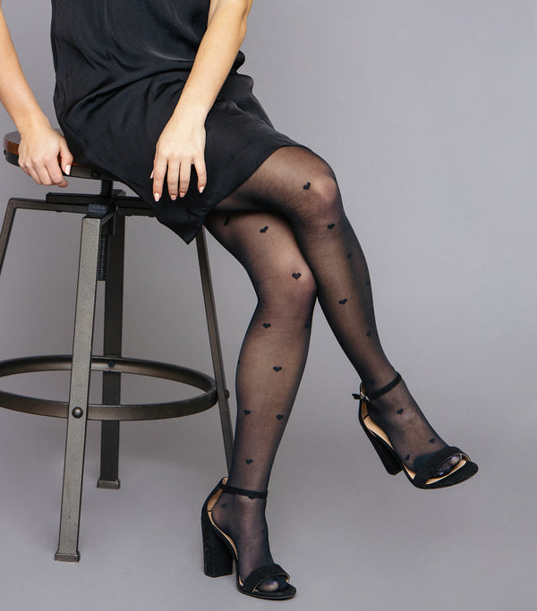 Heart Print Tights