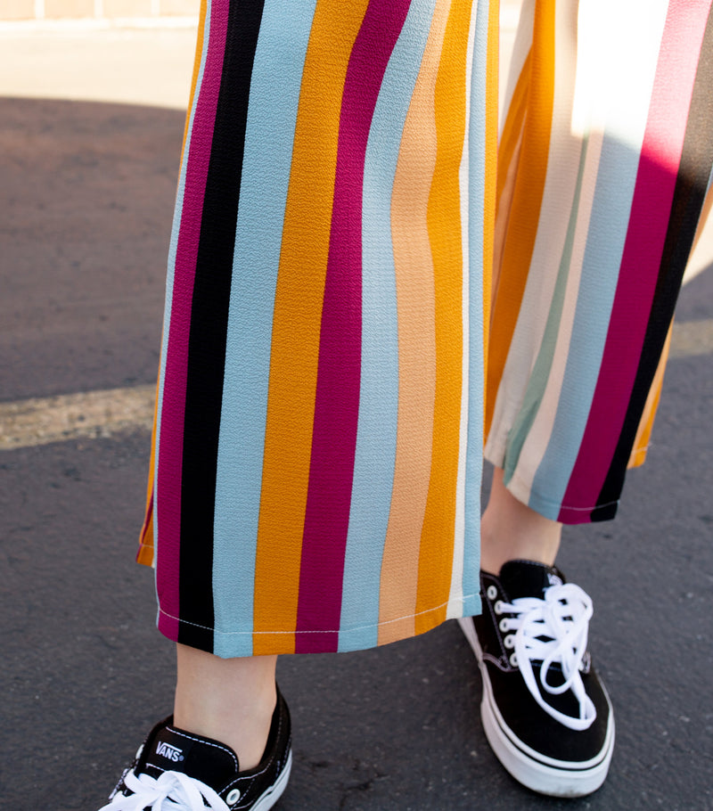 Multi Stripe Long Pants