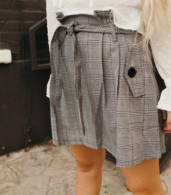 Anne Skirt-Grey Blue