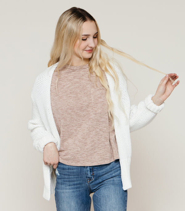 Honey Tee-Taupe