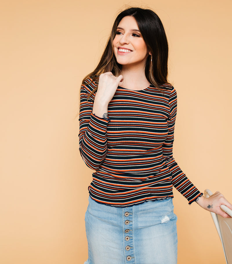 Something Simple Striped Top