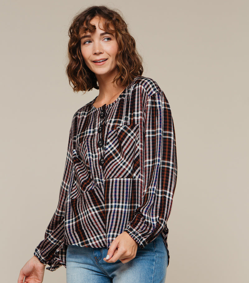 Charlie Plaid Top