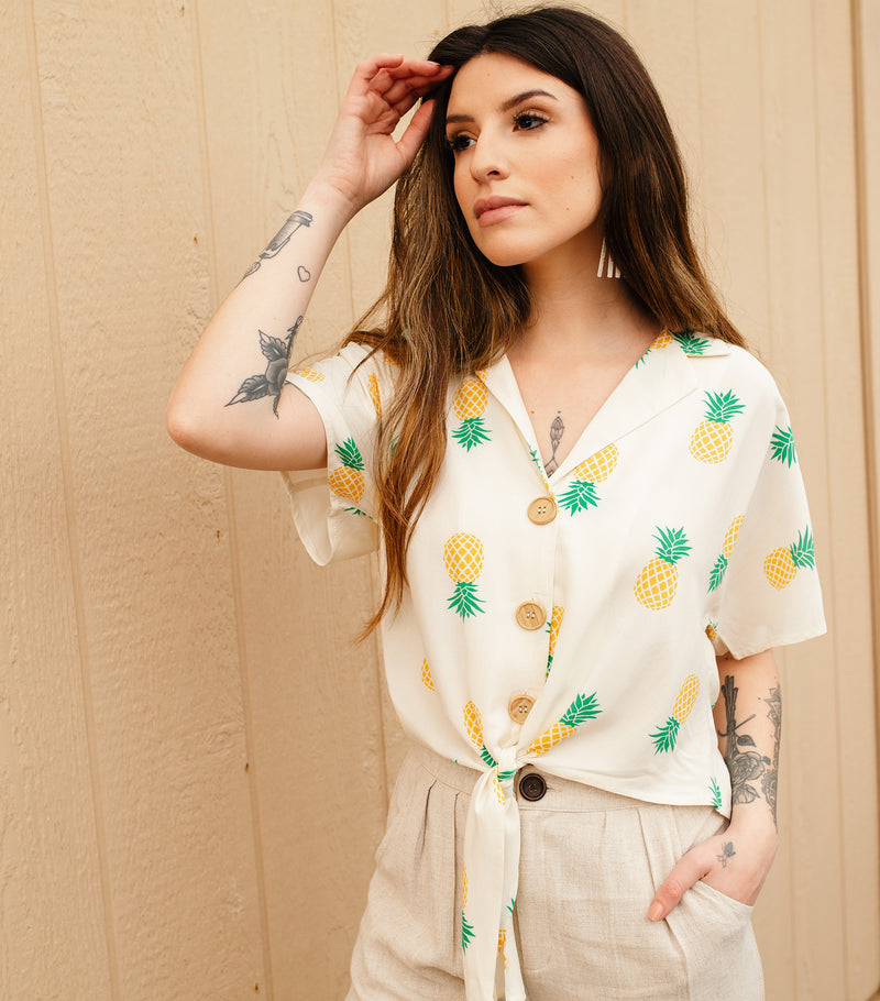 Oh, So Sweet! Blouse-Ivory Yellow