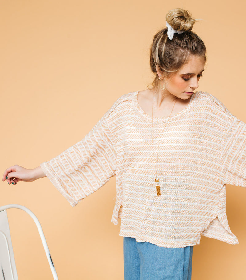 Aztec Striped Wide Arm Top