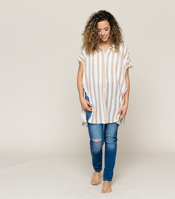 Longer Stripe Top