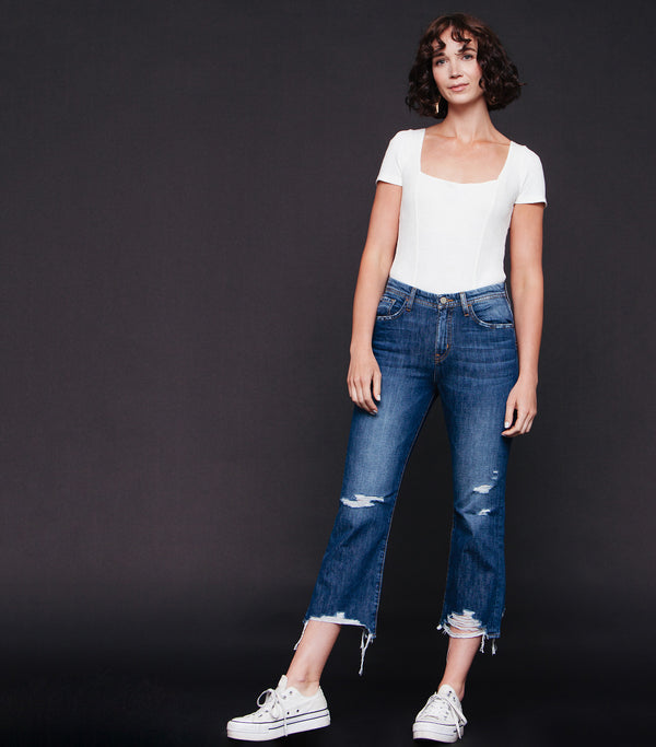 Kianna Straight Leg High Rise Jean