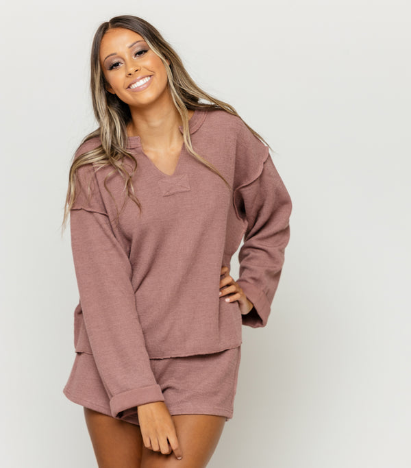Grey Long Sleeve Top