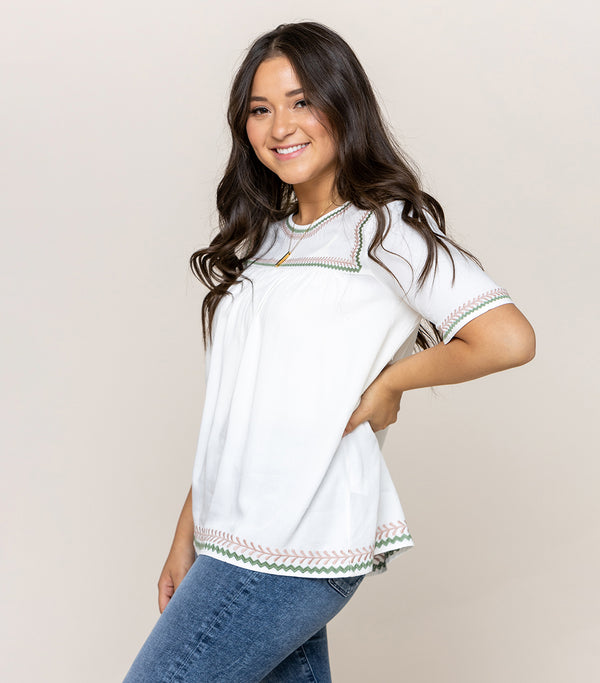 Line Upon Stitch Top