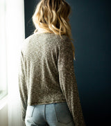 Stay Home Sweater- Olive