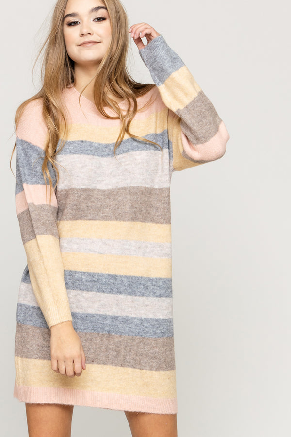 Simply Pastel Sweater Dress