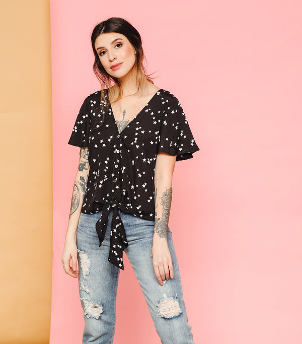 Seeing Stars Knot Blouse