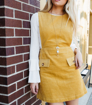 On The Edge Corduroy Dress