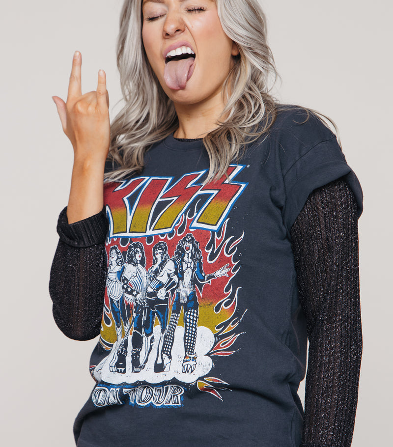 Kiss Heavens On Fire Tour Tee