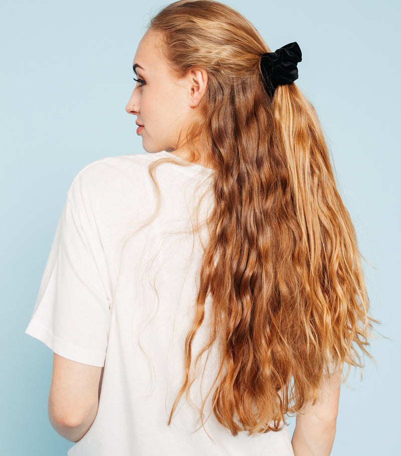 Velvet Scrunchie-Black