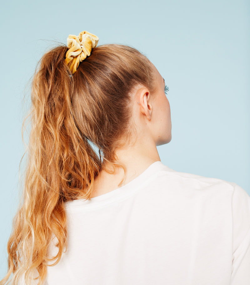 Velvet Scrunchie- Yellow