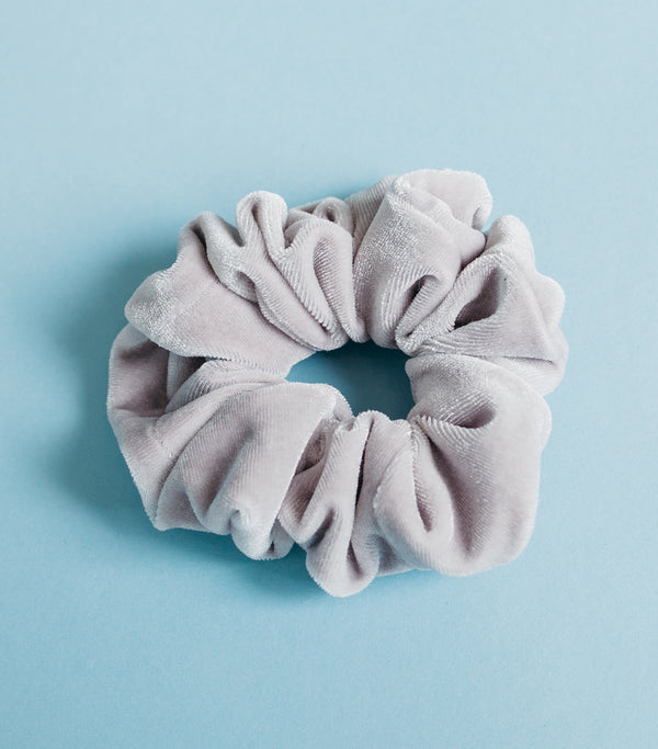 Velvet Scrunchie- Grey