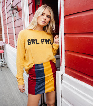 GRL PWR Graphic Sweater