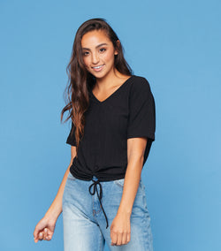 Yes Please Cinched Tee