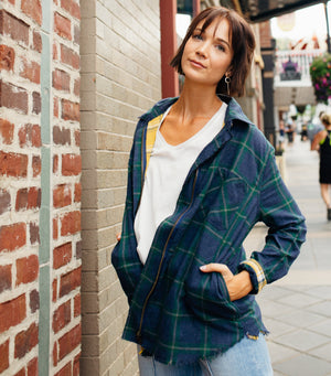 Plaid Zipper Jacket
