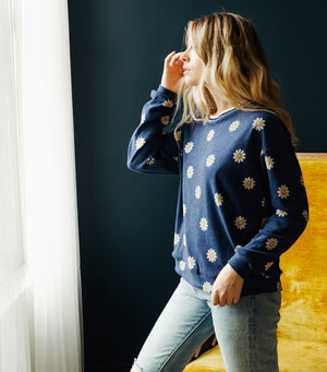 Daisy Pull Over Sweater