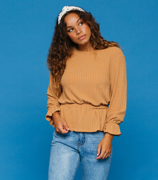 No Plans Sweater- Camel