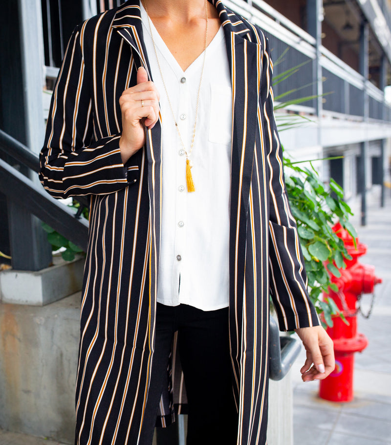 Stripe Trench Jacket