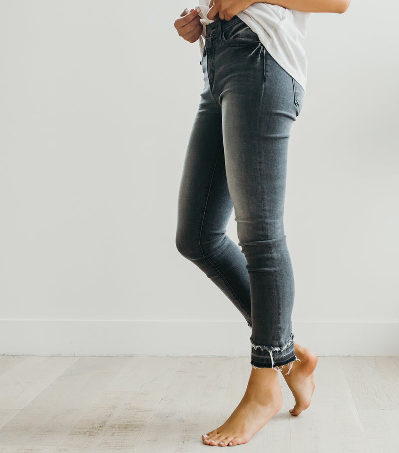 Bottom Detail Skinny Jean