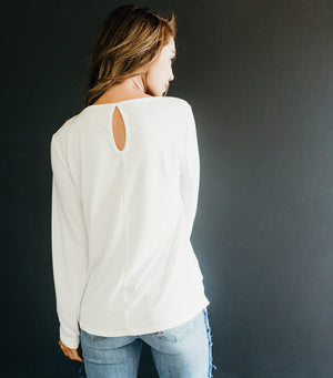 Diagonal Detail Top-Ivory