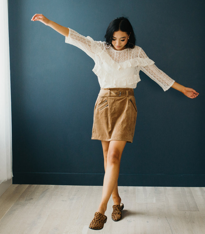 Callie Corduroy Skirt