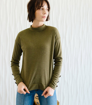 The Sweetest Top- Olive