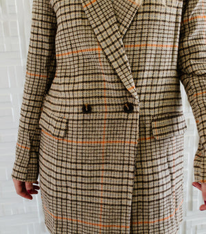 Hound Tooth Long Jacket