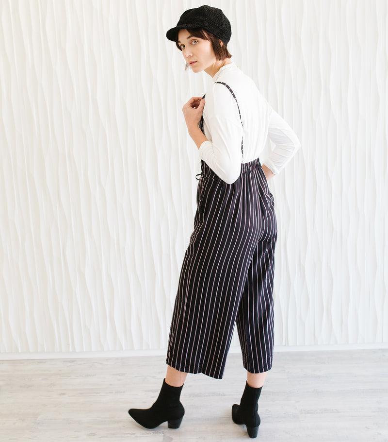 Woven Striped Jumpsuit
